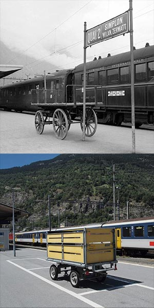 Station Brig in 1950 en 2012